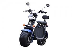 Scooter eléctrico cocoscoot citycoco 1500 W 60 km autonomía, homologado azul