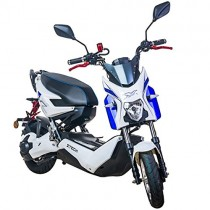 Scooter Electrico Adulto 1200W e-scooter vehículo ciclomotor 45 km/h (Blanco)