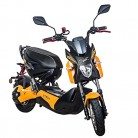 Scooter Electrico Adulto 1200W e-scooter vehículo ciclomotor 45 km/h (Naranja)