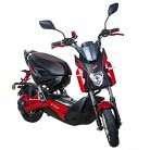 Scooter Electrico Adulto 1200W e-scooter vehículo ciclomotor 45 km/h (Rojo)