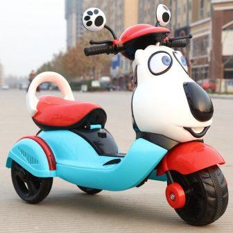 Unidad del Bebé motocicleta eléctrica niño triciclo batería del coche puede sentarse...